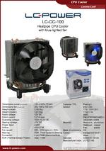 Datasheet CPU cooler LC-CC-100