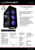 Datasheet ATX case Gaming 801B Sera_X