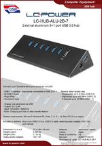 Datasheet USB hub LC-HUB-ALU-2B-7