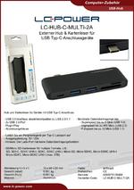 Datenblatt USB-Hub LC-HUB-C-MULTI-2A