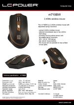 Datasheet PC mouse m719BW