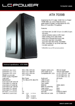 Datasheet ATX case 7039B