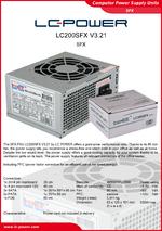Datasheet SFX power supply unit LC200SFX V3.21