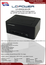 Datasheet docking station LC-DOCK-U3-CR