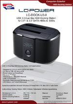 Datenblatt Docking Station LC-DOCK-U3-II