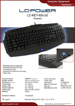 Datasheet keyboard LC-KEY-6B-US
