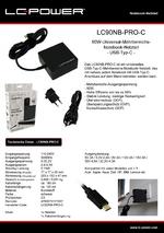 Datenblatt Notebook-Netzteil LC90NB-PRO-C