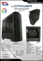 Datasheet ATX case Gaming 997B Hypnos_X