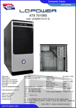 Datasheet ATX case 7010BS with PSU LC420H-12