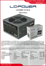 Datasheet ATX power supply unit LC500H-12 V2.2