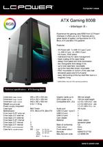 Datasheet ATX case Gaming 800B Interlayer X