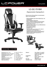 Datenblatt Gaming-Stuhl LC-GC-701BW