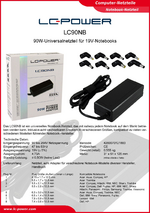 Datenblatt Notebook-Netzteil LC90NB