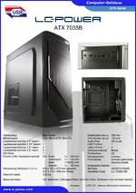 Datenblatt ATX-Gehäuse 7035B