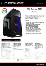 Datasheet ATX case Gaming 999B Phantasm