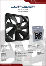 Datasheet 140 mm case fan LC-CF-140