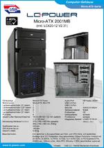 Datenblatt Micro-ATX-Gehäuse 2001MB mit Netzteil LC420-12
