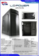 Datenblatt ATX-Gehäuse 7017B