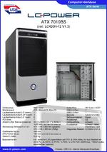Datenblatt ATX-Gehäuse 7010BS mit Netzteil LC420H-12