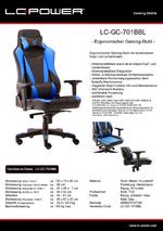 Datenblatt Gaming-Stuhl LC-GC-701BBL