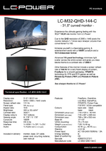 Datasheet PC monitor LC-M32-QHD-144-C