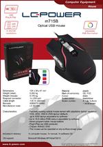 Datasheet PC mouse m715B