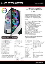 Datenblatt ATX-Gehäuse Gaming 803W Lucid_X