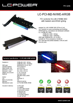 Datasheet PCI card LC-PCI-M2-NVME-ARGB