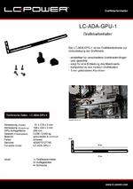 Datenblatt Grafikkartenhalter LC-ADA-GPU-1