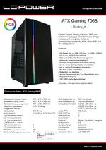 Datenblatt ATX-Gehäuse Gaming 706B Destiny_X