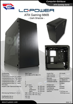 Datenblatt ATX-Gehäuse Gaming 986B Dark Shadow