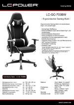 Datenblatt Gaming-Stuhl LC-GC-703BW