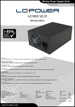 Datasheet mining power supply unit LC1800 V2.31