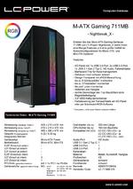 Datenblatt M-ATX-Gehäuse Gaming 711MB Nightbreak_X