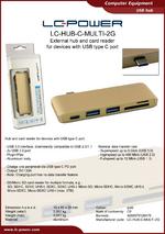 Datasheet USB hub LC-HUB-C-MULTI-2G