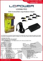 Datasheet notebook power supply unit LC65NB-PRO