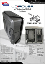 Datenblatt ATX-Gehäuse Gaming 978BG Tank-Buster