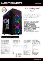 Datasheet ATX case Gaming 998B Rambot