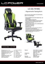 Datenblatt Gaming-Stuhl LC-GC-701BG