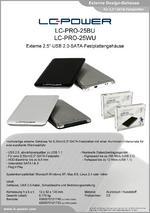"Datenblatt 2,5""-Festplattengehäuse LC-PRO-25BU"