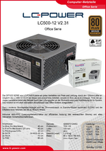 Datenblatt ATX-Netzteil LC500-12 V2.31