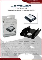 Datenblatt Festplattenadapter LC-ADA-35-225