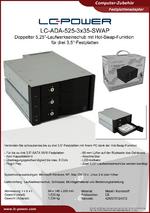 Datenblatt Laufwerkseinschub LC-ADA-525-3x35-SWAP