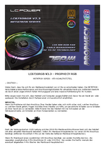 Manual PSU LC8750RGB V2.3 Prophecy RGB
