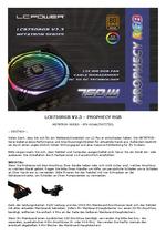 Anleitung Netzteil LC8750RGB V2.3 Prophecy RGB