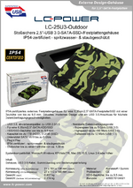 "Datenblatt 2,5""-Festplattengehäuse LC-25U3-Outdoor"