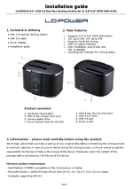 Manual docking station LC-Dock-U3-II
