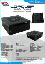 Datenblatt Mini-ITX-Gehäuse LC-1550mi
