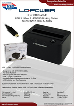 Datenblatt Docking Station LC-DOCK-25-C