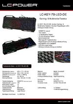 Datenblatt Tastatur LC-KEY-7B-LED-DE